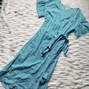 Velvet by Graham & Spencer Striped Wrap Dress